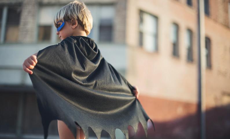 Företagare superhjälte